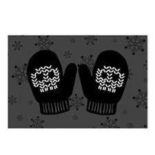 Gothic Skull Mittens Postcards (Package of 8)