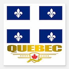 """Quebec Pride Square Car Magnet 3"""" x 3"""""""