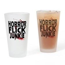 Horror Flick Junkie Drinking Glass
