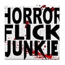 Horror Flick Junkie Tile Coaster