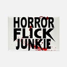 Horror Flick Junkie Rectangle Magnet