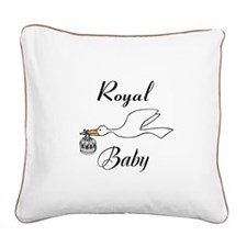 Royal Baby Square Canvas Pillow