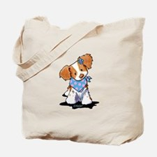 Curious Brittany Girl Tote Bag