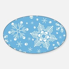 Skull Snowflakes Decal