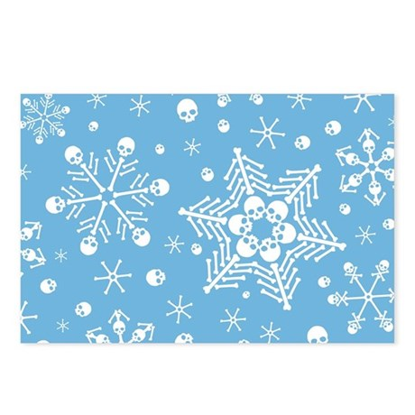 Skull Snowflakes Postcards (Package of 8)