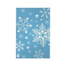 Skull Snowflakes Rectangle Magnet