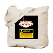 Las Vegas Warning Disclosure Tote Bag