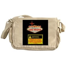 Las Vegas Warning Disclosure Messenger Bag