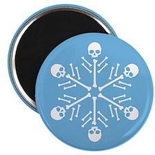 Skull Snowflakes Magnet