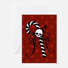 Skull Candy Cane Greeting Cards (Pk of 20)