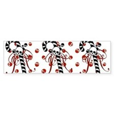 Skull Candy Cane Bumper Sticker