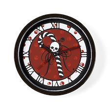 Skull Candy Cane Wall Clock