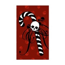 Skull Candy Cane Decal
