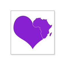 "Africa is in my Heart Decal 3"" x 3"""