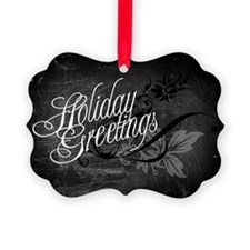 Gothic Holiday Greetings Ornament