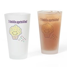Tinkle Sprinkles Funny Cupcake Drinking Glass