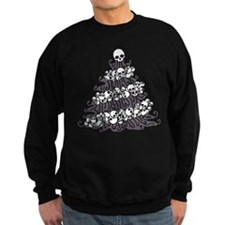 Gothic Tree With Skull Garland Sweatshirt