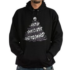 Gothic Tree With Skull Garland Hoodie