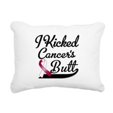 I Kicked Throat Cancers Butt Shirts Rectangular Ca