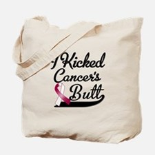 I Kicked Throat Cancers Butt Shirts Tote Bag