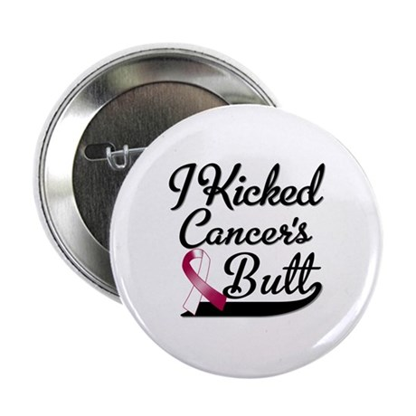 "I Kicked Throat Cancers Butt Shirts 2.25"" Button"