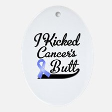 I Kicked Cancers Butt Ornament (Oval)