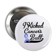 """I Kicked Cancers Butt 2.25"""" Button"""