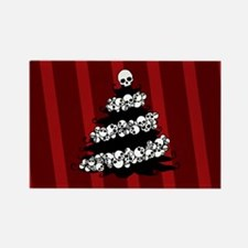 Gothic Tree With Skull Garland Rectangle Magnet
