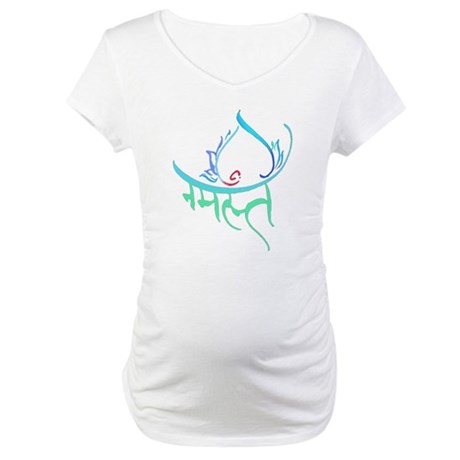 Namaste Lotus Maternity T-Shirt