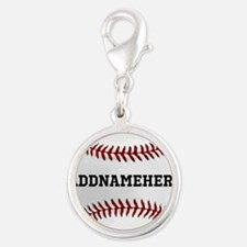 Personalized Baseball Red/White Charms