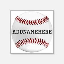 Personalized Baseball Red/White Sticker