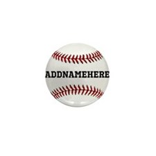 Personalized Baseball Red/White Mini Button (10 pa