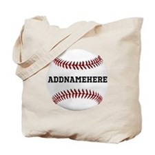 Personalized Baseball Red/White Tote Bag