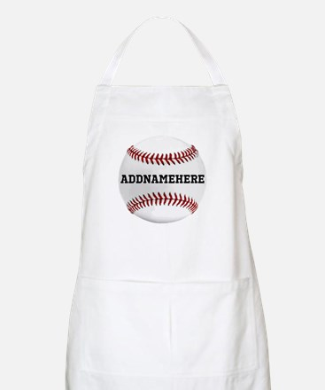 Personalized Baseball Red/White Apron
