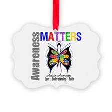 Colorful Autism Butterfly Ornament