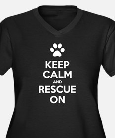 Keep Calm And Rescue On Animal Rescue Plus Size T-