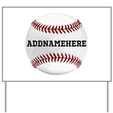 Personalized Baseball Red/White Yard Sign