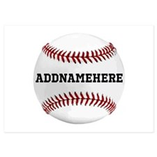 Personalized Baseball Red/white Invitations