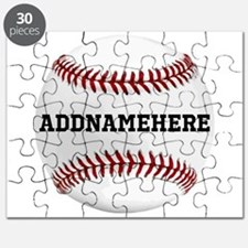 Personalized Baseball Red/White Puzzle