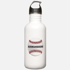 Personalized Baseball Red/White Water Bottle