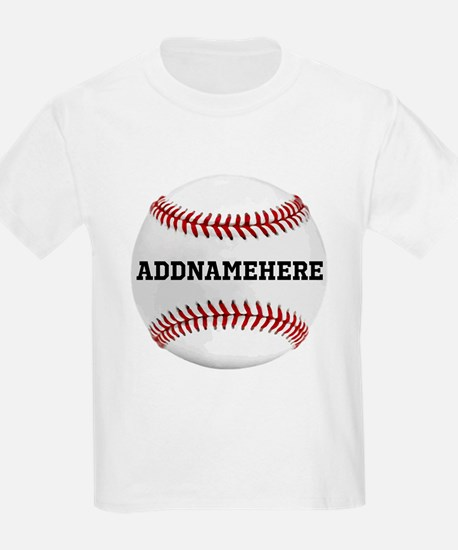 Personalized Baseball Red/White T-Shirt