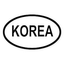 Korea Decal (Oval)