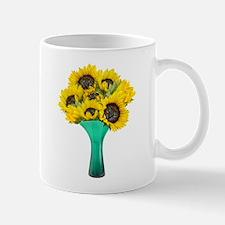 Vase Cat Flowers Mug
