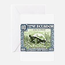 1936 Ecuador Galapagos Tortoise Postage Stamp Gree