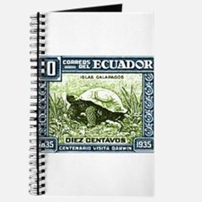 1936 Ecuador Galapagos Tortoise Postage Stamp Jour