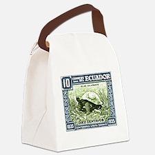 1936 Ecuador Galapagos Tortoise Postage Stamp Canv