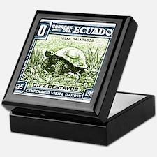1936 Ecuador Galapagos Tortoise Postage Stamp Keep