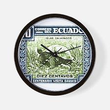 1936 Ecuador Galapagos Tortoise Postage Stamp Wall