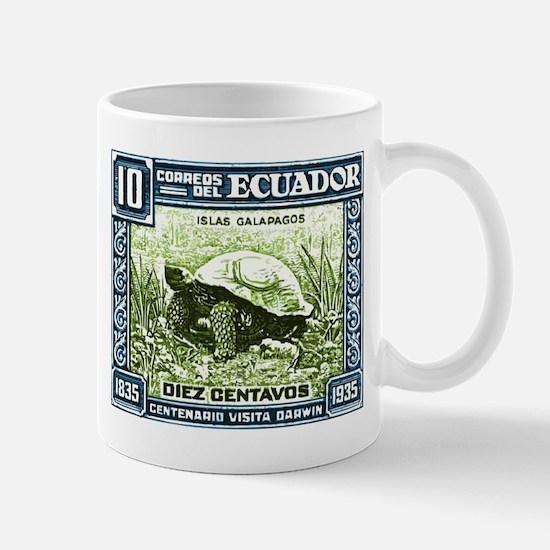 1936 Ecuador Galapagos Tortoise Postage Stamp Mug