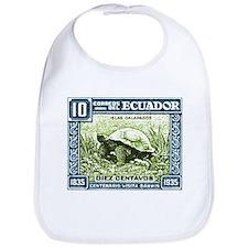 1936 Ecuador Galapagos Tortoise Postage Stamp Bib